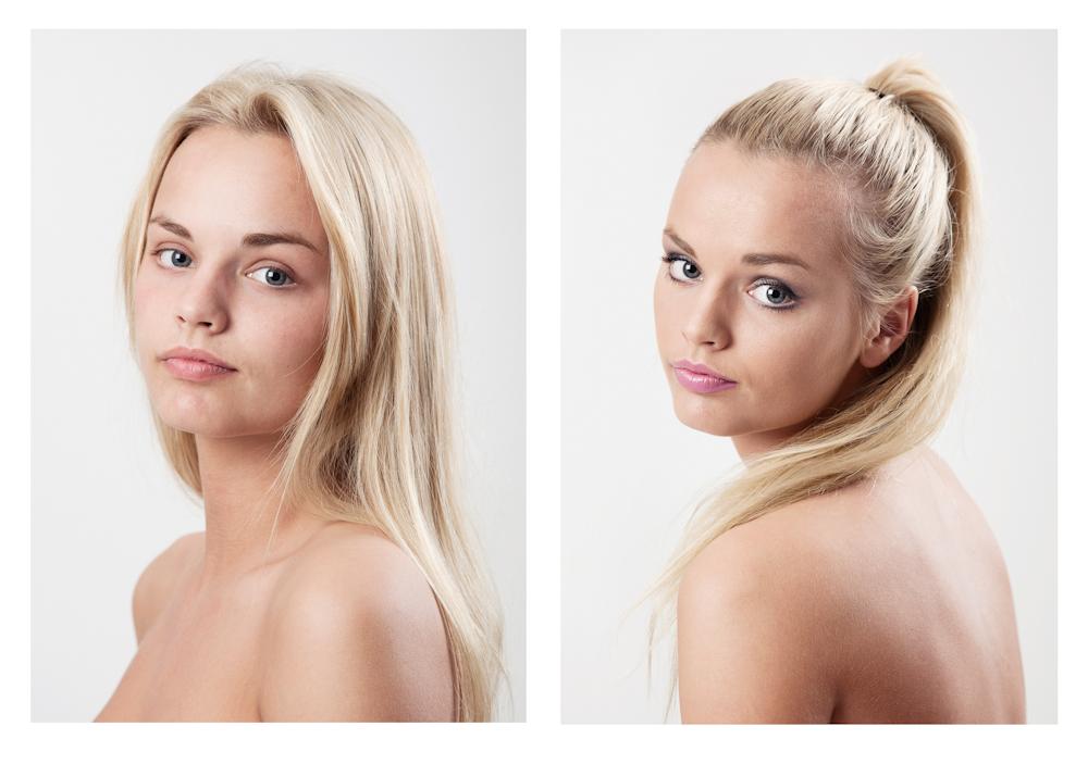 Før og etter makeup