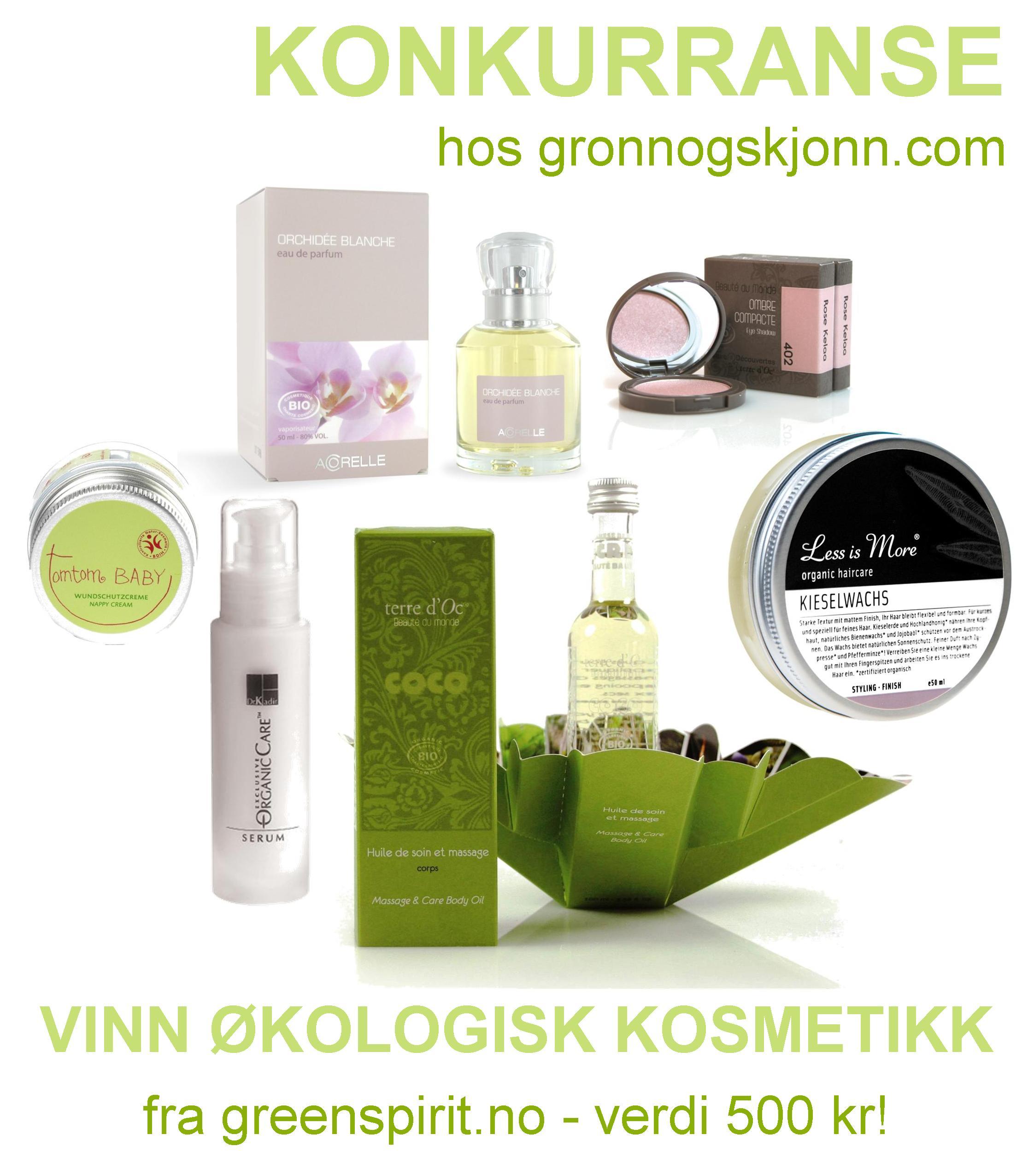 Bli med og vinn Green Spirit produkter hos gronnogskjonn.com!