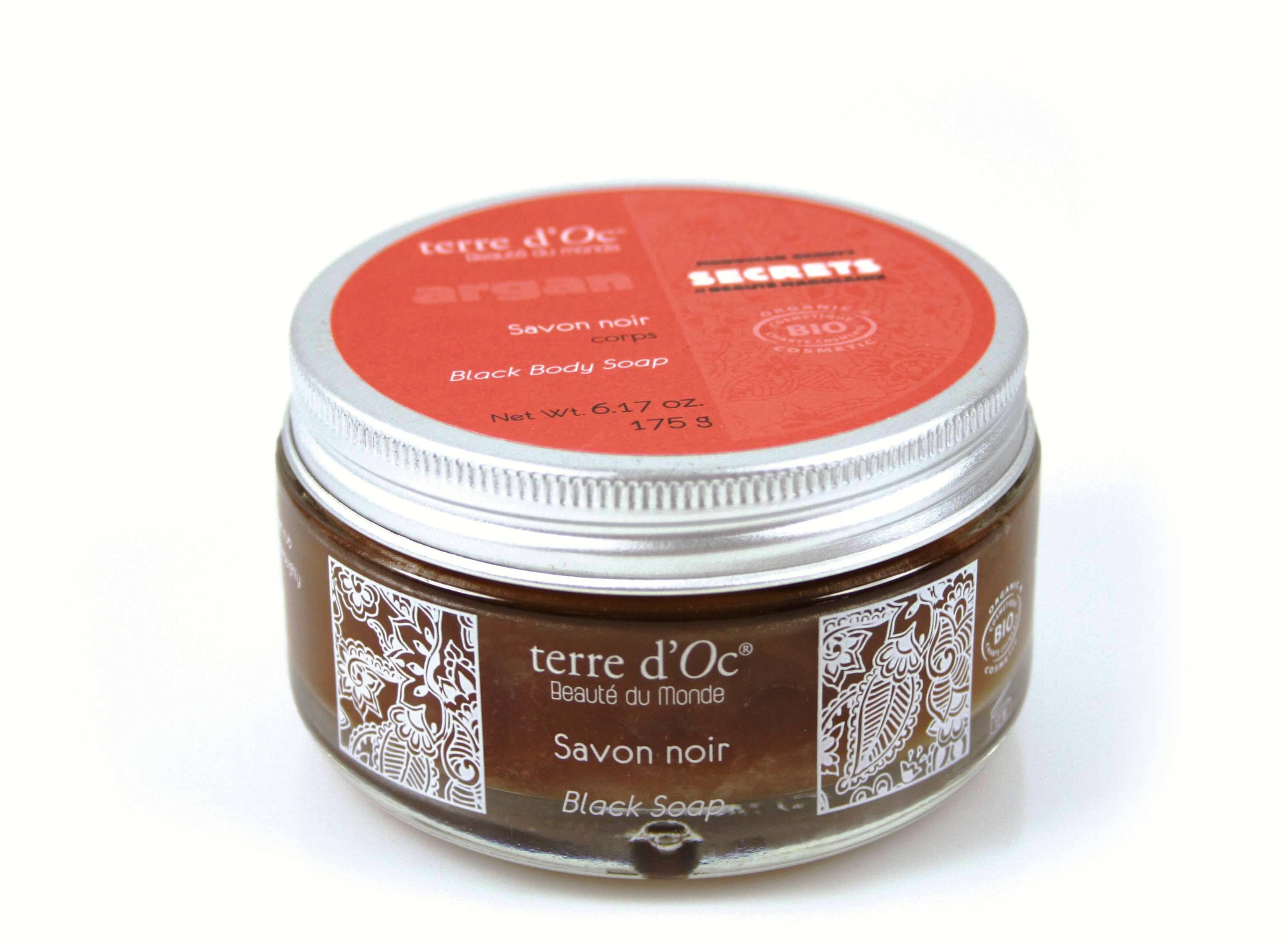 Økologisk black argan soap fra terre d'Oc