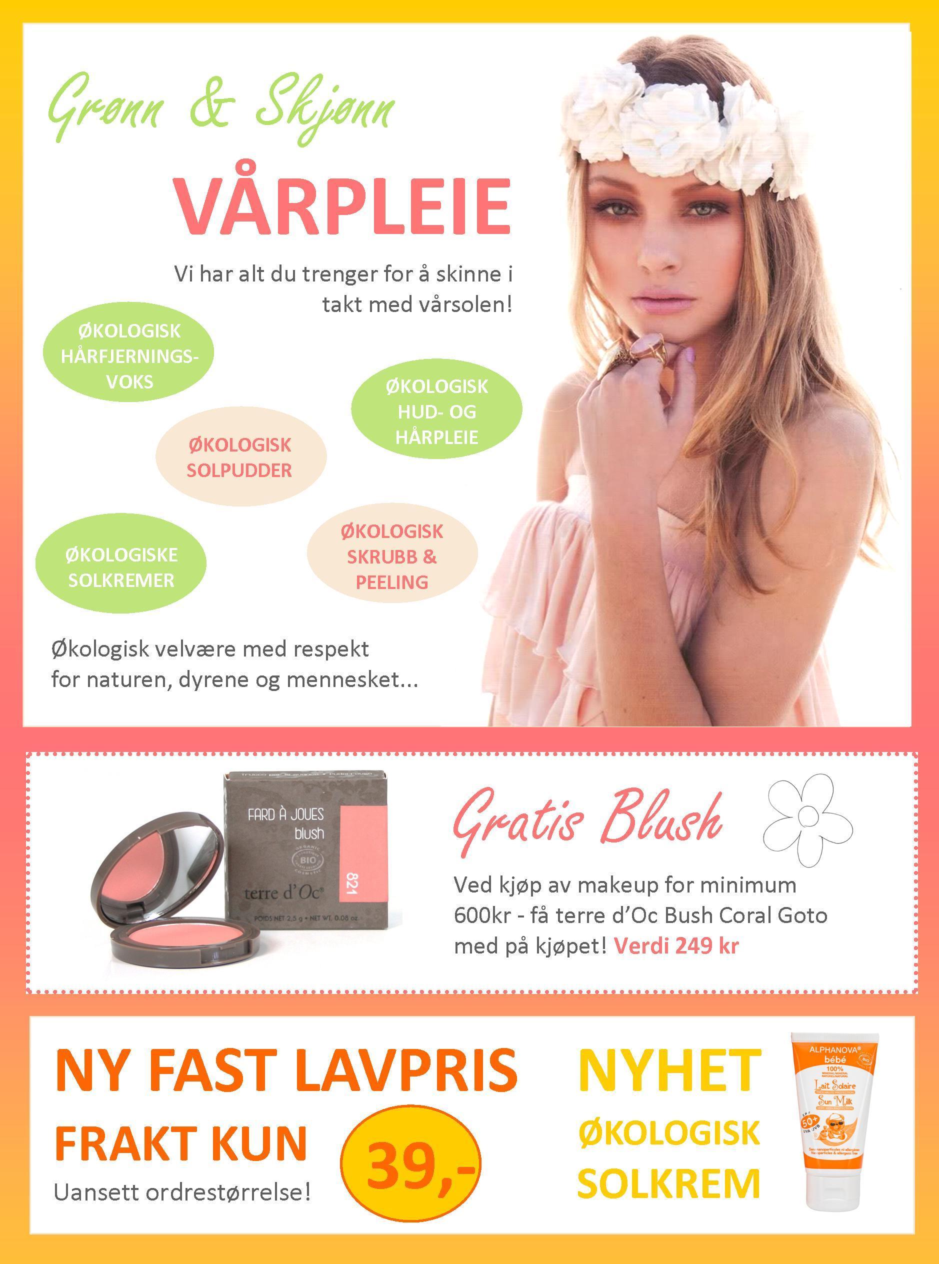 Grønn & Skjønn vårpleie og gratis blush!
