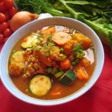 Grønn linsesuppe