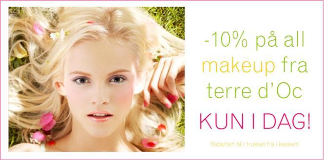 -10% på all makeup fra terre d'Oc - KUN I DAG!