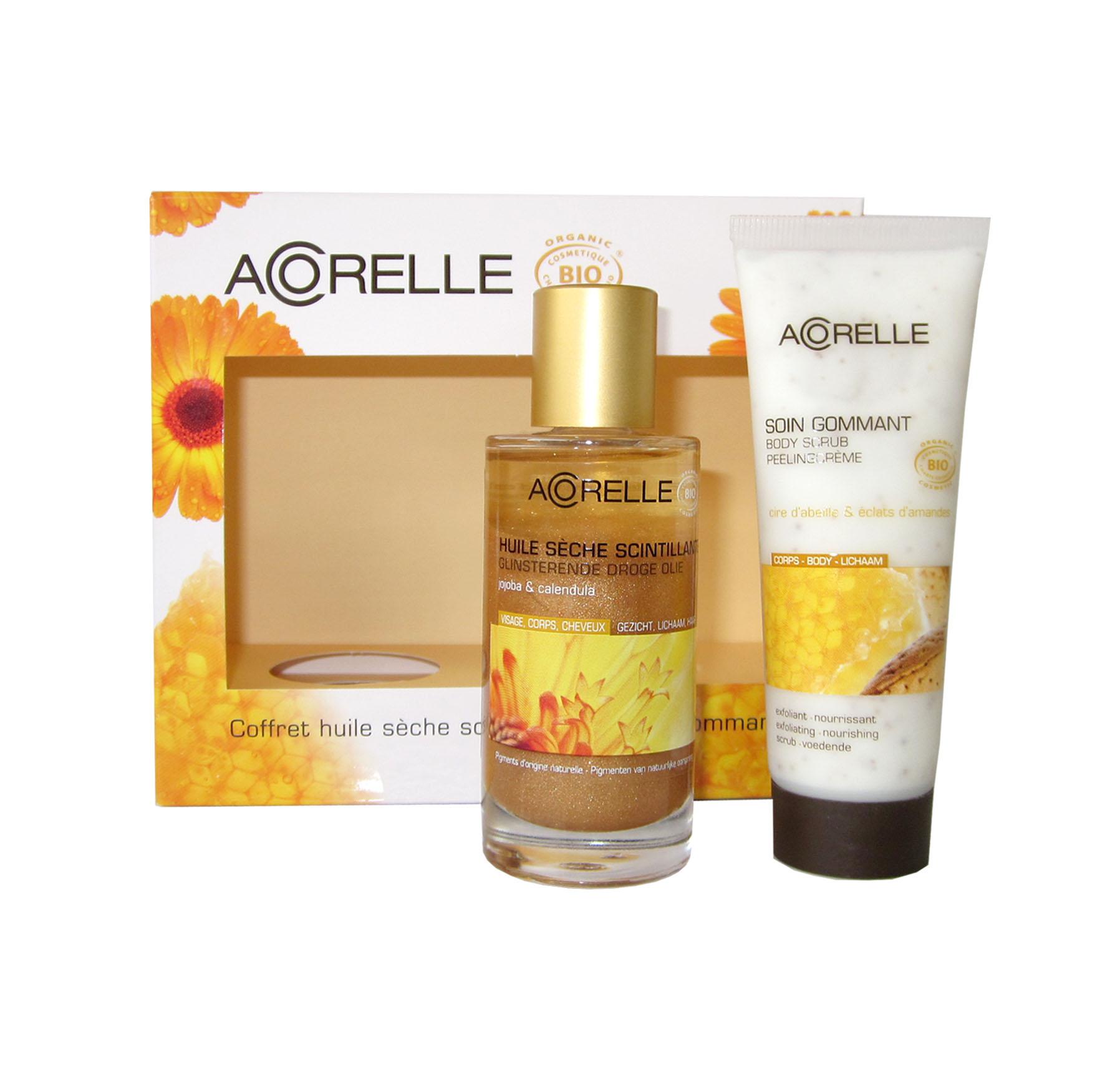 Acorelle Body Scrub & Glittering Oil Gift Set