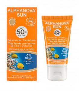 Nyhet: Alphanova sun SPF50+ farget solkrem